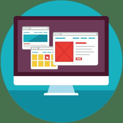 Icoon voor webdesign en webdevelopment